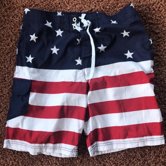 3e0c37c448 Bioworld Swim | Mens American Flag Trunks | Poshmark